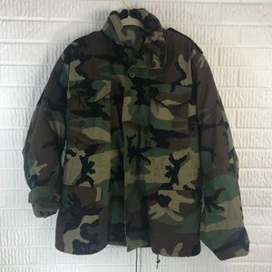 Woodland Camo field parka cold weather